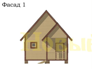 Фасад одноэтажного дома