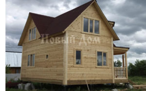 Дом с мансардой по проекту Д-56-К