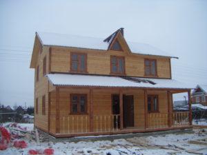 Двухэтажный каркасный дом